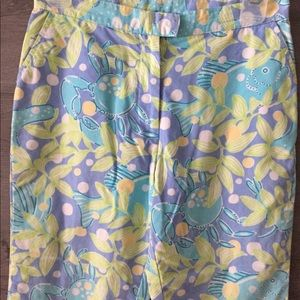 Lilly Pulitzer Capris size 0 with Ocean creatures!